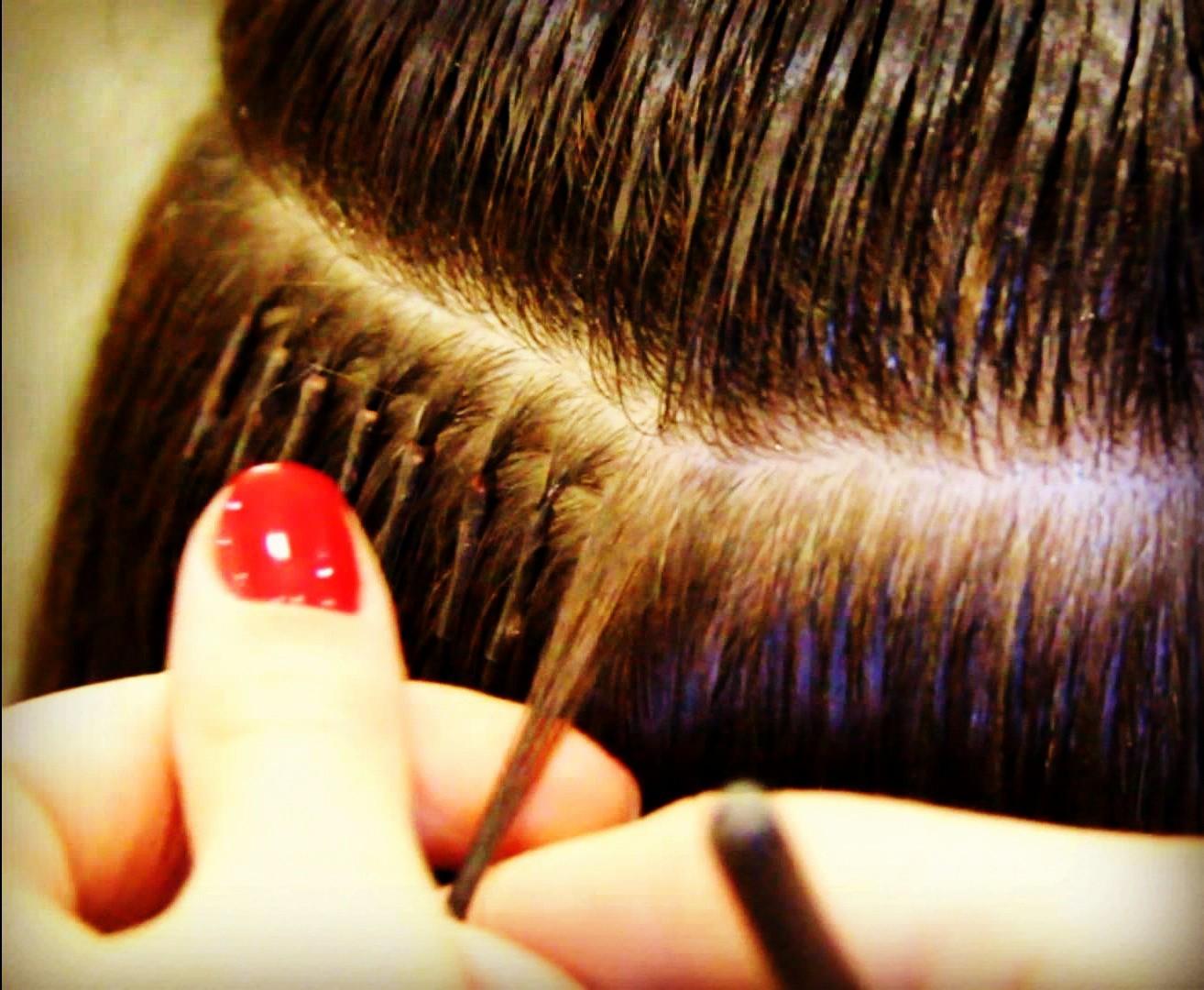 Фото наращивания волос и ногтей